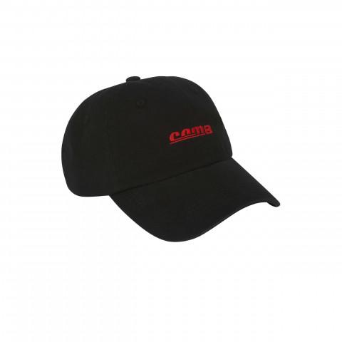 CAP 6-PANEL BLACK STONEWASHED