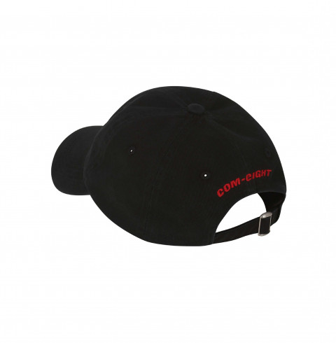 CAP 6-PANEL BLACK STONEWASHED