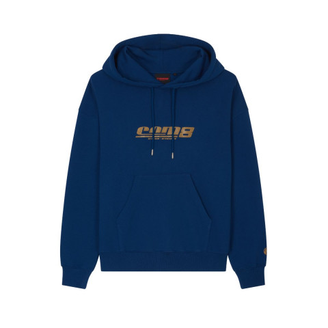 HERITAGE HOODIE CLASSIC LOGO GOLD NAVY