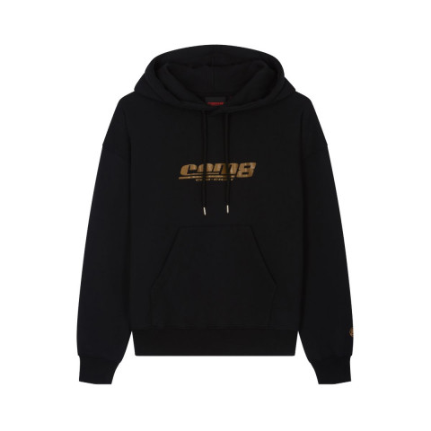 HERITAGE HOODIE CLASSIC LOGO GOLD BLACK